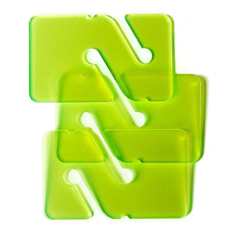 3 REMs (Reference Exit Marker) - Transparent Green