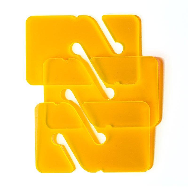 3 REMs (Reference Exit Marker) – Transparent Orange
