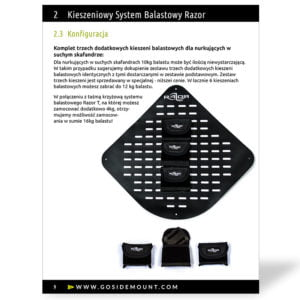 Instrukcja UŻytkownika Kieszeniowy System Balastowy Razor