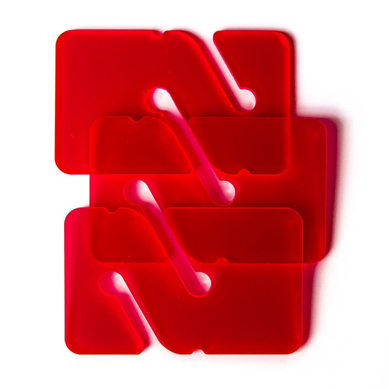 3 REMs (Reference Exit Marker) – Transparent Red
